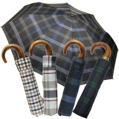 【rainbow】ウッドハンドル折りたたみ傘