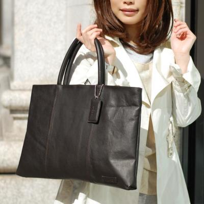 【B-EGG(ビーエッグ)】カーフレザービジネストートバッグ(全3色)