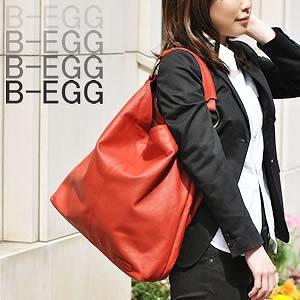【B-EGG(ビーエッグ)】カーフレザーワンショルダーバッグ