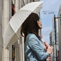 トーションレース晴雨兼用傘 着用