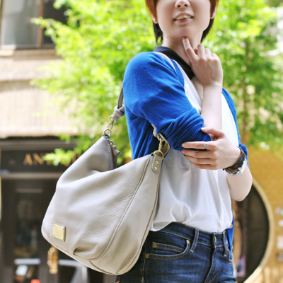 【ancheri(アンシェリ)】シュリンクレザーショルダーバッグ